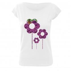 Tričko dámské kytky