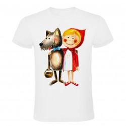 Dětské tričko Karkulka s vlkem