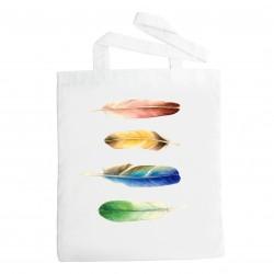 Látková taška pírka