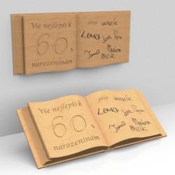 Dřevěná kniha - reliéf
