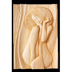 Dřevěný reliéf - žena