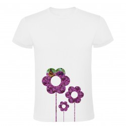 Tričko květiny